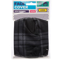 Load image into Gallery viewer, Grey and black Tartan reusable Mask Face Covering