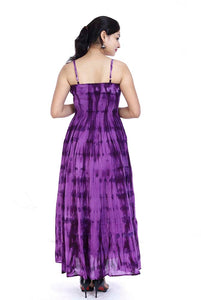 Cotton Gypsy Maxi Dress Purple