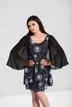 Load image into Gallery viewer, Lucille Gothic Bat Wing Caped Dress