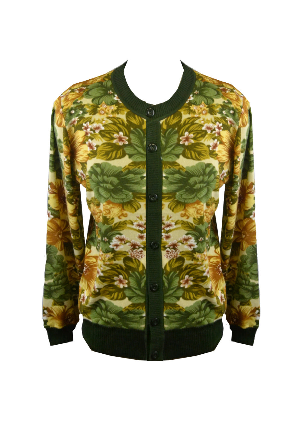 Green Mix Floral cardigan