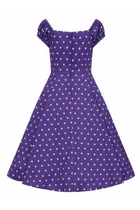 Dolores Purple polkadot Dress