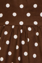 Load image into Gallery viewer, Children's Brown Polkadot 40s/ 50s Dress
