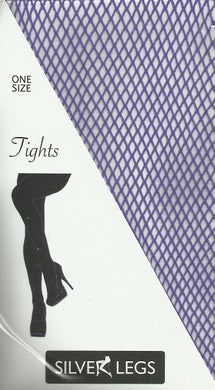 Plain Fishnet Tights (Purple)