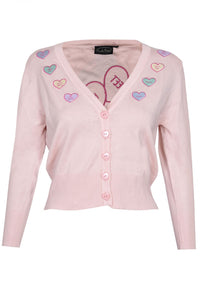 Kim Love Heart Print Cardigan