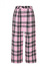Load image into Gallery viewer, Pink Tartan Culottes Made in the Uk