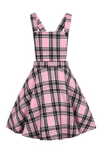 Load image into Gallery viewer, Islay Pink and Black Tartan Pinafore