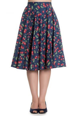 April Cherry 50s Skirt Blue