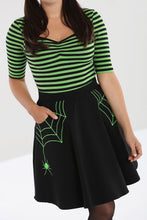 Load image into Gallery viewer, Miss Muffet Mini Skirt Black and Green