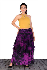 Purple Tie Dye layered Skirt