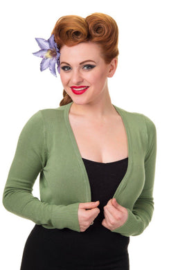 Flickers Long Sleeve Bolero Light Green