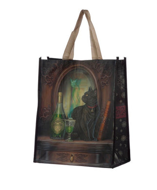 Lisa Parker Absinthe Cat shopping Bag