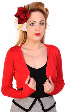 Flickers Long Sleeve Bolero Red