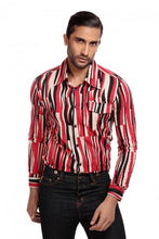 Load image into Gallery viewer, Tiago Abstract Black and Red Shirt