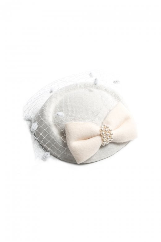 Lorrie Ivory Pearl Mini Hat Fascinator