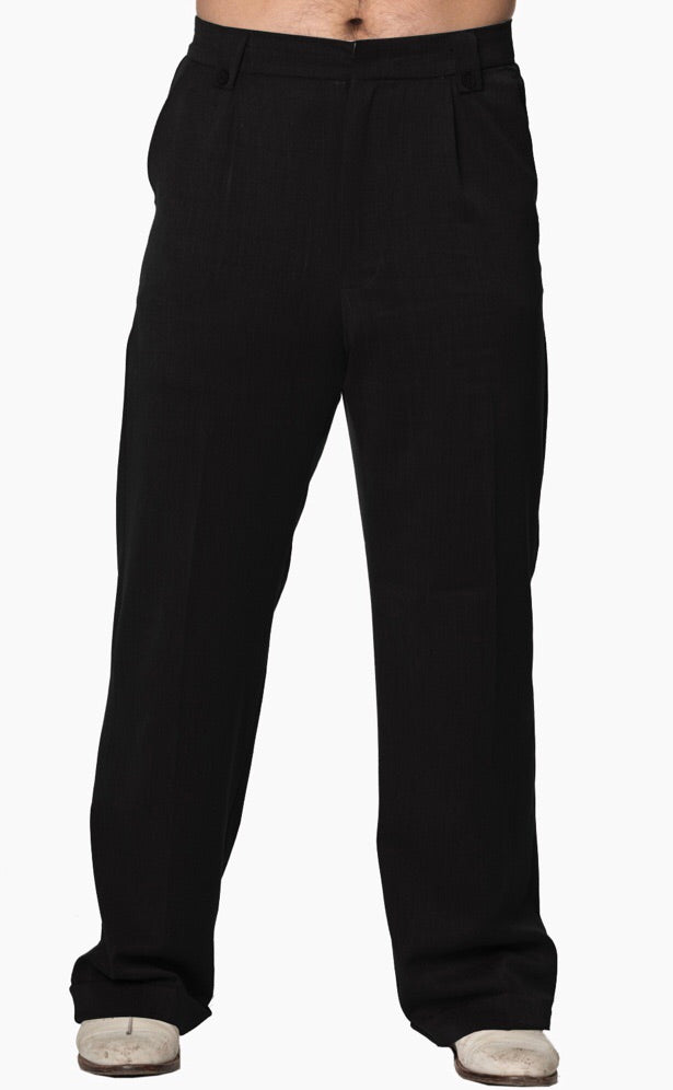 Men's 1940s/1950's Inspired Trousers Black