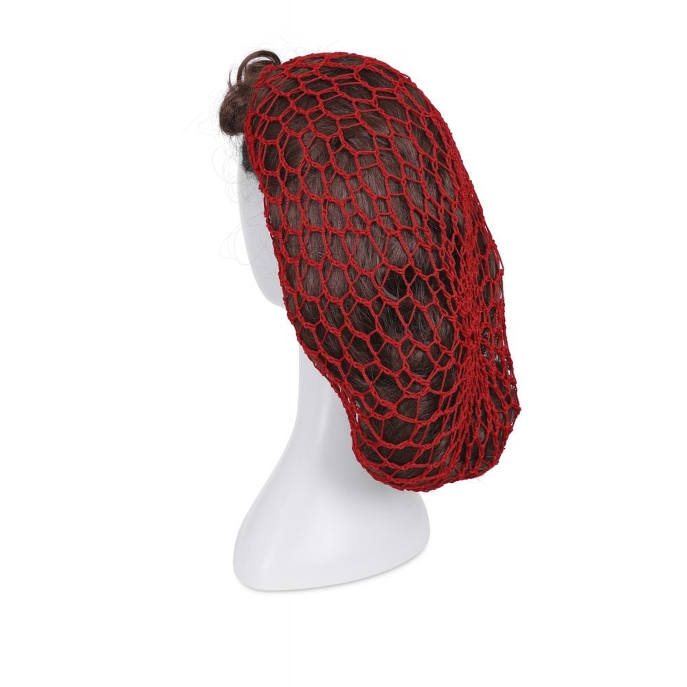 1940s Style Crocheted Snood Red