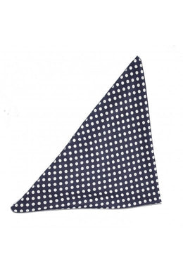 Chiffon Polka Dot Bandana Navy and white