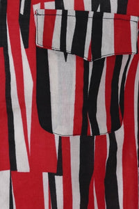 Tiago Abstract Black and Red Shirt