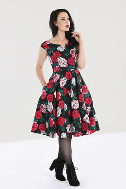Ruby Painted Roses Dress