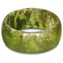 Load image into Gallery viewer, Green and Gold Speckled Bangle Bracelet