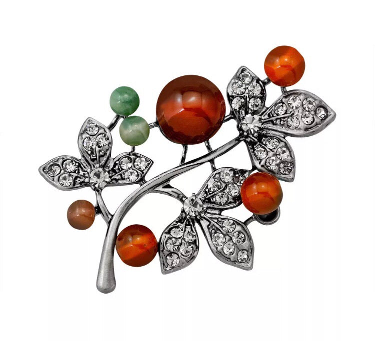 Leaves and Berries Brooch