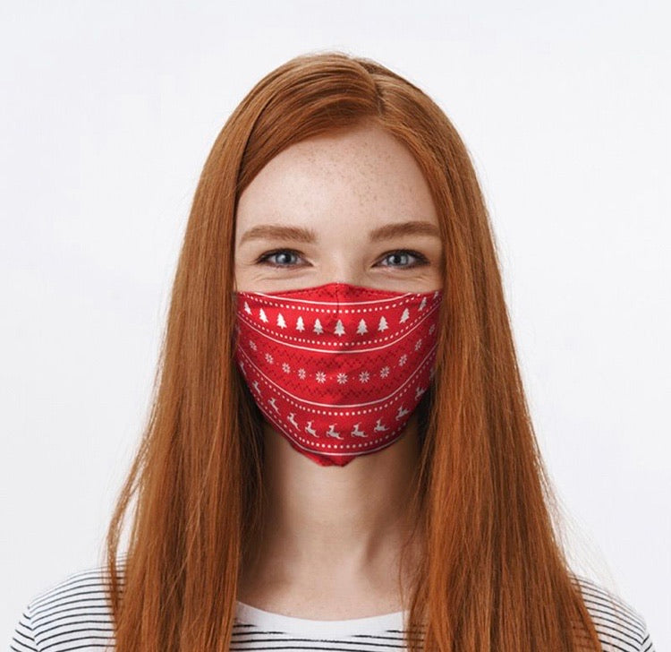 Christmas Jumper reusable Mask Face Covering