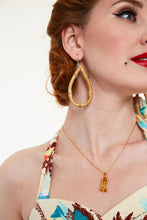 Load image into Gallery viewer, Frannie Tear Bamboo Tiki Earrings