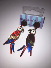 Load image into Gallery viewer, Scarlet Macaw Parrot Earrings