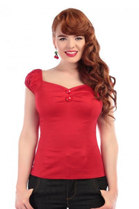 Dolores classic Gypsy Top Red