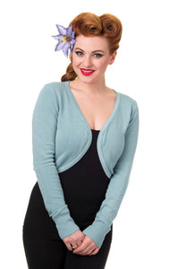 Flickers Long Sleeve Bolero Pastel Blue