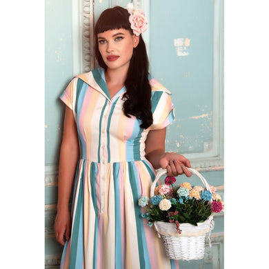 Judy teacup Stripe Swing Dress SALE WAS £65 NOW £45