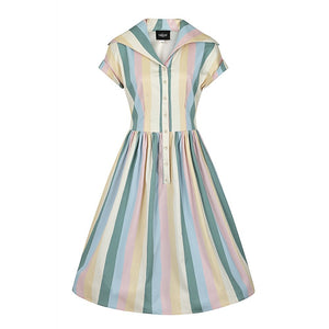 Judy teacup Stripe Swing Dress