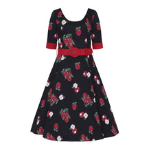 Load image into Gallery viewer, June Apple 3/4 sleeve swing dress SALE WAS £55 NOW £39