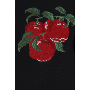 Lucy Apple Embroidery 100% Cotton Cardigan