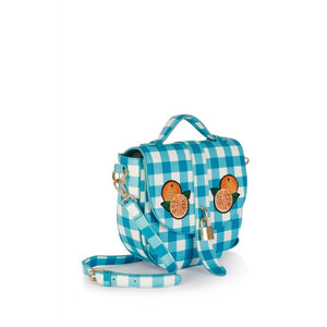 Lydia Gingham Orange Bag SALE WAS £35 NOW £25