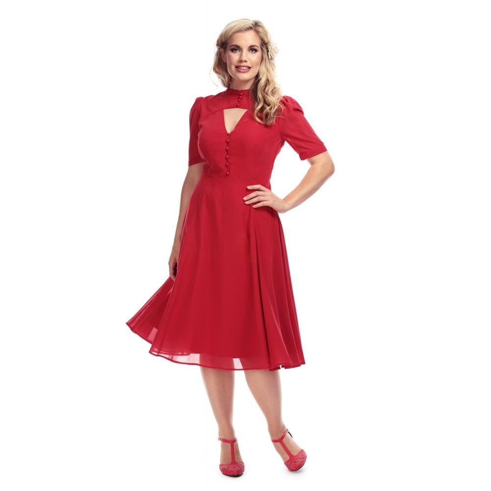 Collectif Shirley Red Swing Dress SALE WAS £65 NOW £29