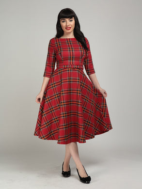 Suzanne Berry Tartan Check Swing Dress