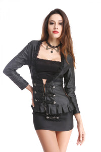 Lace and Ruffles Low front Shirt jacket