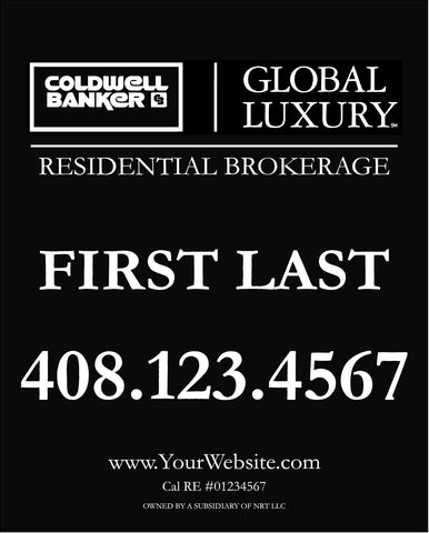 Coldwell Banker Global Luxury 30x24 Inch Sign Panel