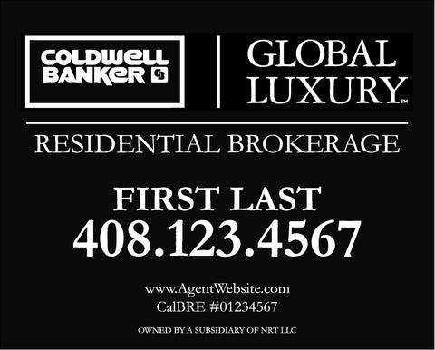 12x15 Coldwell Banker Global Luxury Hillsborough Sign