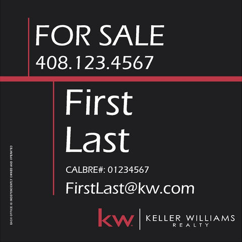 Keller Williams 24x24 Inch Sign Panel v2