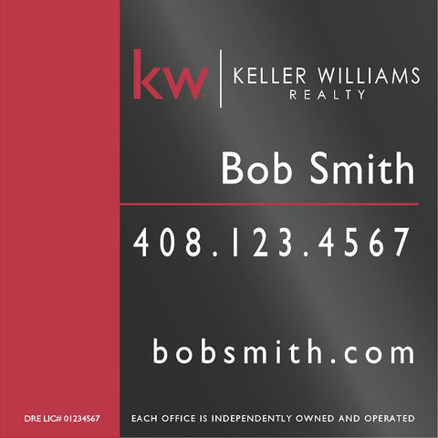 Keller Williams 24x24 Inch Sign Panel v1