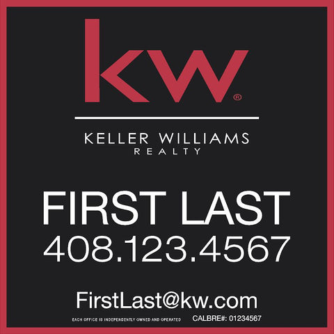 Keller Williams 24x24 Inch Sign Panel v4