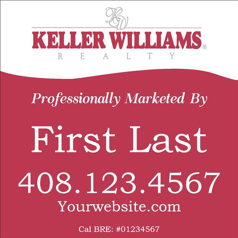Keller Williams 24x24 Inch Sign Panel v3