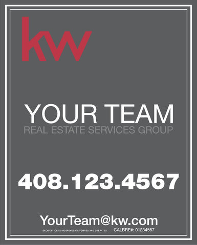 Keller Williams  30x24 Inch Sign Panel