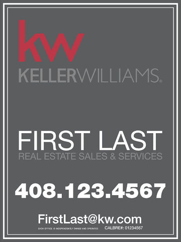Keller Williams 32x24 Inch Sign Panel