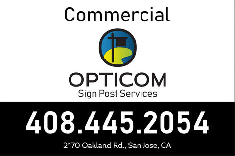 2x3 ft Commercial Sign