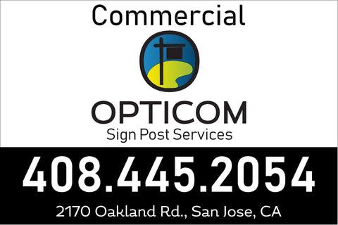 3x5 ft Commercial Sign