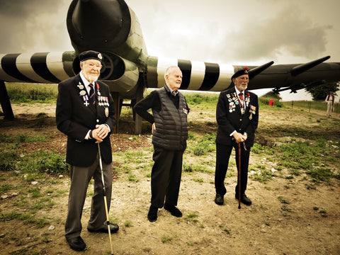 D-Day veterans Colin Bell, Richard Llewellyn and Joe Cattini
