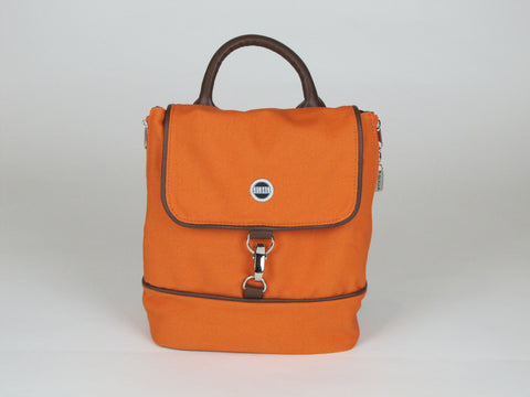 Orange Backpack Purse